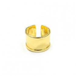 1 Fingerring aus Metall - gold