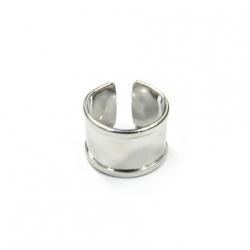 1 Fingerring aus Metall - nickelfarben
