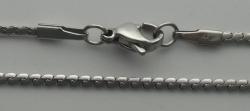 1 Stück EDELSTAHL-Schlangenkette mit Karabiner-Verschluss - Länge: 45 cm
