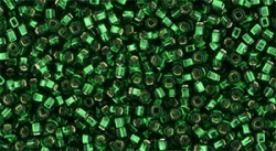 5g TOHO Square Hole SeedBeads 15/0 TR-15S-36 Silver-Lined Green Emerald