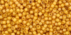 10 g TOHO Seed Beads 11/0 TR-11-0950 F - Inside-Color Frosted Jonquil/Burnt Orange-Lined (E)
