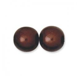 1 Strang - 10,0 mm Glaswachsperlen - dk bronze pearl