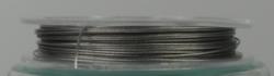 1 Rolle Stahldraht/nylonummantelt - nickel