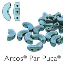 23980-94104 - 25 Stück - Arcos Par Puca - 5x10 mm - Metallic Matte Turquoise
