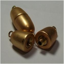 Schraubverschluss Oval - 27x9 mm goldfarben matt