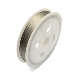 1 Rolle Tiger Tail nylonummantelt 0,38 mm - silver - 60m