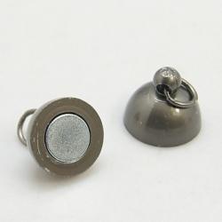 1 Kugel-Magnet-Verschluss Ø 10x17 mm Gunmetal