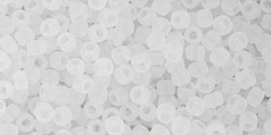 10 g TOHO Seed Beads 11/0 TR-11-0141 F - Ceylon-Frosted Snowflake
