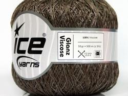50 Gramm Glanz-Viskose  - lt brown