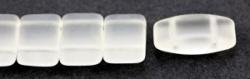 #01.03 - 10 Stück Zweiloch-Glasperle 9x17 mm - Crystal Matte