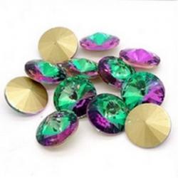 1 Glas-Rivoli 12 mm - green multicolor