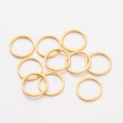 5 Stück Metallringe Ø10 mm gold