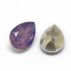 1 Resin Tear Stone, 13x18 mm - Cyclamen Opal