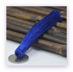 1 Stück Textil-Quaste (ca. 12,0cm) - zum Einkleben - cobalt blue