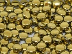 #00.03 - 25 Stück DiscDuo Beads 6x4 mm - Crystal Amber Full
