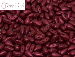 #00.05 - 25 Stück DropDuo Beads 3x6 mm - Lava Red