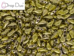 #01.01.00 - 25 Stück DropDuo Beads 3x6 mm - Crystal Amber Full
