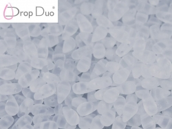 #01.00.01 - 25 Stück DropDuo Beads 3x6 mm - Crystal Matted