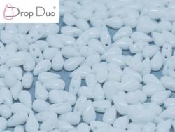 #02.00 - 25 Stück DropDuo Beads 3x6 mm - Chalk White