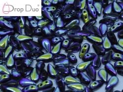 #03.05 - 25 Stück DropDuo Beads 3x6 mm - Jet Full AB