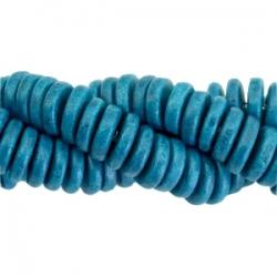 #16 - 10 Stck. Griechische Keramik ca. 8x2,2 mm - stonewash - mosaic blue
