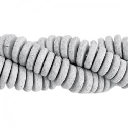 #02.01 - 10 Stck. Griechische Keramik ca. 6,5x2,2 mm - stonewash - dk grey