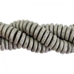 #03.01.01 - 10 Stck. Griechische Keramik ca. 6,5x2,2 mm - stonewash - graphite grey