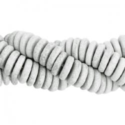 #03.01 - 10 Stck. Griechische Keramik ca. 6,5x2,2 mm - stonewash - grey