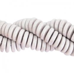 #03.01.03 - 10 Stck. Griechische Keramik ca. 6,5x2,2 mm - stonewash - soft grey