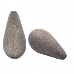 #05 - 1 Stück Polaris-Elements Perlen Tropfen Paipolas - Ø 20x10 mm - matt warm grey