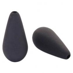 #06.03 - 1 Stück Polaris-Elements Perlen Tropfen - Ø 20x10 mm - matt black