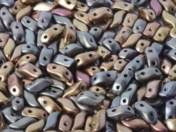 #00.01 - 25 Stück StormDuo Beads 3x7 mm - Zink Iris (Leather)