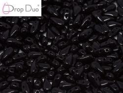 #03.00 - 25 Stück DropDuo Beads 3x6 mm - Jet