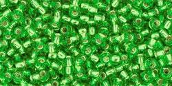 10 g TOHO Seed Beads 11/0 TR-11-0027 Peridot Silver-Lined (A,D)