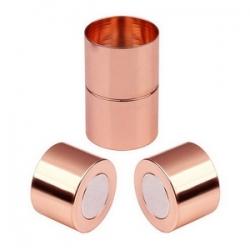 1 Magnet-Verschluss Ø 20x09mm zum Kleben - rosé gold