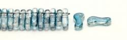 #00.00 - 50 Stück Link Beads 3x10 mm - Crystal Blue Luster