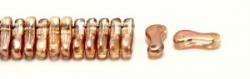 #00.00 - 50 Stück Link Beads 3x10 mm - Crystal Venus