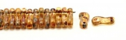 #00.00 - 50 Stück Link Beads 3x10 mm - Crystal Dk Travertin