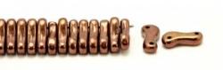 #00.00 - 50 Stück Link Beads 3x10 mm - Jet Copper