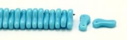 #00.00 - 50 Stück Link Beads 3x10 mm - Blue Turquoise Opaque