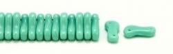 #00.00 - 50 Stück Link Beads 3x10 mm - Green Turquoise Opaque