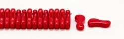 #00.00 - 50 Stück Link Beads 3x10 mm - Red Opaque