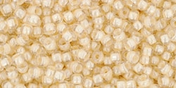 10 g TOHO Seed Beads 11/0 TR-11-0352 - Inside-Color Crystal/Lt Jonquil Lined (E)