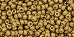 10 g TOHO Seed Beads 11/0 TR-11-PF592 F - Permanent Finish - Matte Galvanized Champagne (Golden Fleece) (A,C,D)