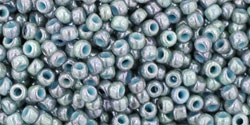 10 g TOHO Seed Beads 11/0 TR-11-1208 - Marbled-Opaque Turquoise/Luster Transparent Blue (C)