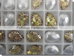 1 Glas-Tropfen Ø 18x13 mm Patina - citrine/silber