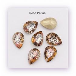 1 Glas-Tropfen Ø 18x13 mm Patina - crystal/capri gold