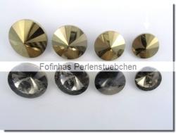 1 Glas-Rivoli 12 mm - crystal gold foiled