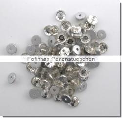 30 Stück Glas-Flatback Xilion Lochrose Ø 4 mm - crystal