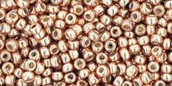 10 g TOHO Seed Beads 11/0 TR-11-PF551 - PermaFinish - Galvanized Lt Soft Copper (A,C,D)